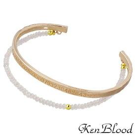 KEN BLOOD【ケンブラッド】 バングル メンズ シルバー ローズクォーツ ピンク 925 スターリングシルバー KP-376S-PK