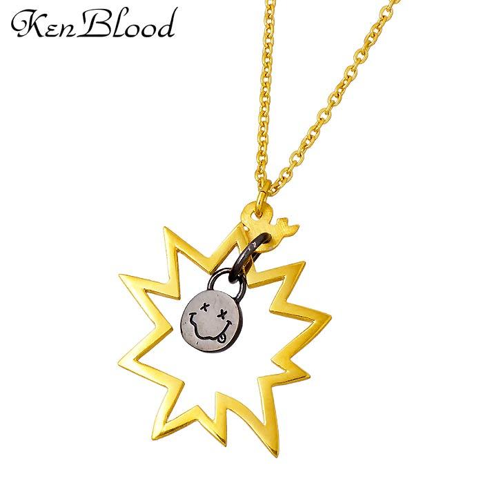 KEN BLOOD【ケンブラッド】THE TELL シルバー ネックレス メンズ ゴールド ブラック KP-420