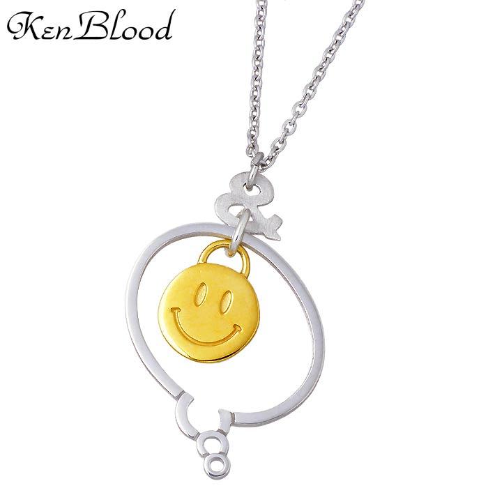 KEN BLOOD【ケンブラッド】THE TELL シルバー ネックレス メンズ ゴールド KP-422