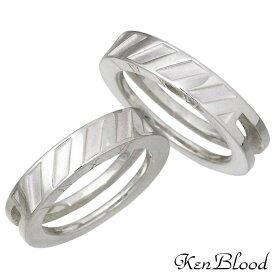 KEN BLOOD【ケンブラッド】シルバー ペア リング 指輪 9〜21号 KR-281