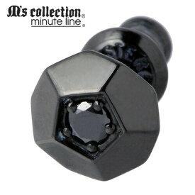 M's collection【エムズコレクション】 ピアス レディース メンズ シルバー キュービック 1個売り 片耳用 スタッドタイプ 925 スターリングシルバー M0346