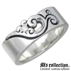 M's collection X Sies【エムズコレクションXシーズ】 リング 指輪 レディース フェザー シルバー コラボモデル ダイヤモンド 羽7〜13号 925 スターリングシルバー MC-376D