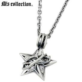 M's collection【エムズコレクション】 ネックレス メンズ レディース ブランブル スター シルバー ダイヤモンド 星 XP-075