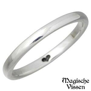 Magische Vissen【マジェスフィッセン】 リング 指輪 レディース ハート シルバー 裏ハート細タイプ925 スターリングシルバー OZR-118