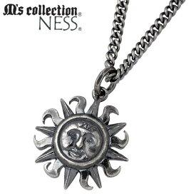 M's collection【エムズコレクション】 ネックレス レディース メンズ 太陽 シルバー 925 スターリングシルバー AA-132