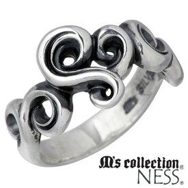 M's collection【エムズコレクション】 ピンキーリング 指輪 レディース アラベスク シルバー 3〜7号 唐草模様 925 スターリングシルバー MC-710