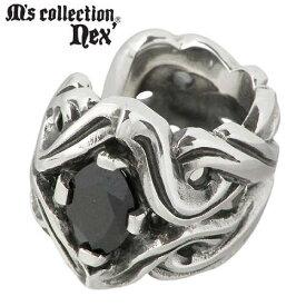 M's collection【エムズコレクション】 イヤーカフ レディース シルバー ブラックキュービック 1個売り 片耳用 925 スターリングシルバー X0203BLCZ