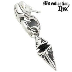 M's collection【エムズコレクション】 ピアス レディース シルバー ブラックキュービック スタッド 1個売り 片耳用 925 スターリングシルバー X0207BLCZ