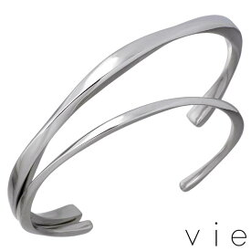 vie【ヴィー】ステンレス ペア バングル 金属アレルギー対応 2本セット【刻印可能】 vie-B1243-44-P