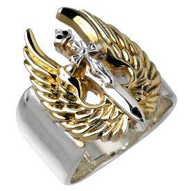 【ウルフマンB.R.S】WOLFMAN B.R.S リング 指輪 メンズ シルバー ジュエリー エンジェル 925 スターリングシルバー WO-R-033G