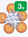 食品用乾燥剤 シリカゲル 【 3g 】 ×【100個】×【1袋】【送料無料】(国産・58×50mm・青つぶ入り) 乾燥剤 食品用…