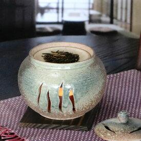信楽焼 茶香炉 和風 おしゃれ ロウソク付 陶器 アロマ 茶 火 キャンドル 茶こうろ 香炉 ギフト ty-0013