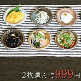 信楽焼 和風 おしゃれ 10種類から2枚選べる小皿 黒 おしゃれ 陶器 白 皿 プレート 小鉢 鉢 丸皿 醤油皿 刺身 皿 ct-0016