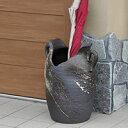 信楽焼 和風 おしゃれ 白刷毛目窯肌傘立て 玄関 インテリア 陶器 かさたて 陶器 傘立て 傘たて つぼ ツボ しがらき 傘…
