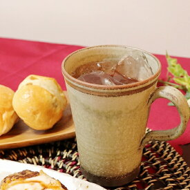 信楽焼 マグカップ 陶器 スープカップ おしゃれ 保温 かわいい 和食器 日本製 白 カップ 食器 やきもの コップ 焼き物 器 萌黄ロングマグカップ w306-08