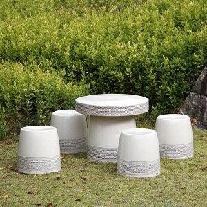 信楽焼 和風 おしゃれ 20号 ガーデンテーブル 陶器テーブル 焼き物 お庭、ベランダ用庭園セット ガーデンテーブルセット 陶器 イス テーブル ガーデンセット 屋外用 te-0020