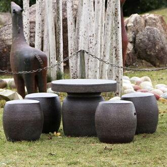 号 20; 乐花园表 / 陶瓷表 / 陶器和花园和阳台花园设置 / 花园表集 / 陶器 / 椅子 / 信乐表 / 设置 / 户外花园-[te 0032]