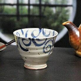 信楽焼 和風 おしゃれ ゆのみ 水面唐草 青 湯呑 湯のみ茶碗 陶器コップ 湯呑み 信楽 汲出し 食器 器 焼き物 汲み出し茶碗 しがらき うつわw913-11