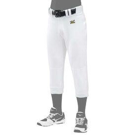 【在庫処分】ミズノ 練習用スペアパンツ(ヒザ2重)(野球) ホワイト Mizuno 12JD6F60 01