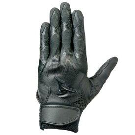 【在庫処分】ミズノ セレクトナイン右手/左打者用 ブラック×ブラック(掌部カラー/ブラック) Mizuno 1EJEH143 90
