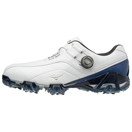 ミズノ ジェネム008ボア EEEE(ゴルフ) メンズ ホワイト×ブルー Mizuno 51GQ1800 22