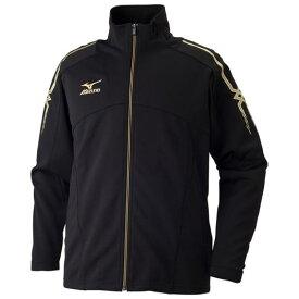 【在庫処分】ミズノ ウォームアップシャツ メンズ ブラック×ブラック(MCラインカラー/ゴールド) Mizuno 32JC7010 90