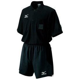 【在庫処分】ミズノ レフリーシャツ(半袖)(サッカー) ブラック Mizuno 62HR900 09