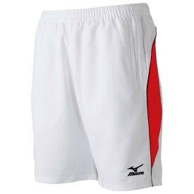 ミズノ ゲームパンツ(ハーフ丈)(ラケットスポーツ) ホワイト×レッド Mizuno 62JB6002 76