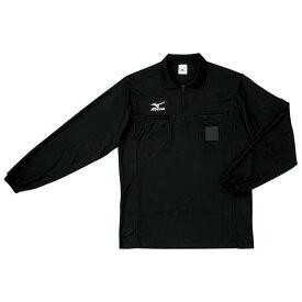 【在庫処分】【送料無料】ミズノ レフリーシャツ(長袖)(サッカー) ブラック Mizuno 62SR900 09