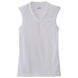 ミズノ ドライベクターエブリ Vネックノースリーブシャツ メンズ オフホワイト Mizuno C2JA6102 02