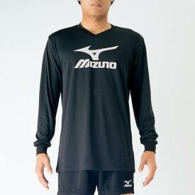 【在庫処分】ミズノ プラクティスシャツ ブラック×ホワイト Mizuno V2MA7097 90