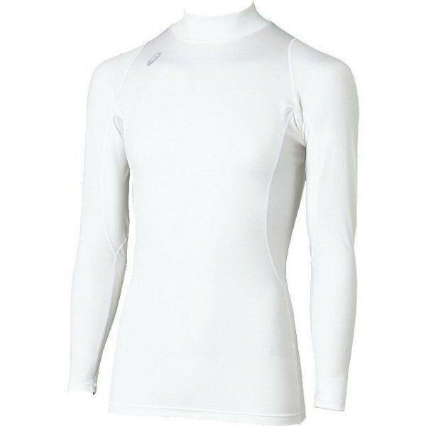 アシックス ハイネックロングスリーブシャツ ホワイト asics XA3809 01