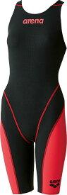 【今ならポイント15倍】アリーナ レディース 競泳用 Fina承認 ハーフスパッツオープンバック クロスバッグ アクアフォース フュージョン2 arena ARN7010W BKRD