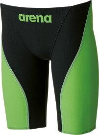 【今ならポイント15倍】アリーナ メンズ 競泳用水着(Fina承認) ハーフスパッツ アクアフォース フュージョン2 arena ARN7011M BKLG