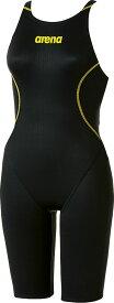 【今ならポイント15倍】アリーナ ジュニア(ガールズ) 競泳用 Fina承認 ジュニアハーフスパッツ(クロスバック) X−パイソン2 arena ARN7020WJ BKYL