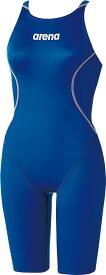 【今ならポイント15倍】アリーナ ジュニア(ガールズ) 競泳用 Fina承認 ジュニアハーフスパッツ(クロスバック) X−パイソン2 arena ARN7020WJ DBSV