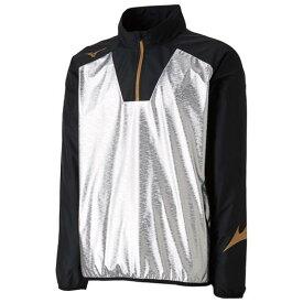 【在庫処分】【送料無料】ミズノ テックシールドシャツ ブラック×シルバー Mizuno P2ME8526 90