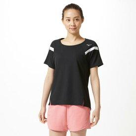 【在庫処分】ミズノ ドライエアロフローTシャツ[レディース] ブラック Mizuno 32MA9316 09