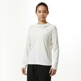 【在庫処分】ミズノ ソーラーカットジップTシャツ[レディース] ホワイト Mizuno 32MA9341 01