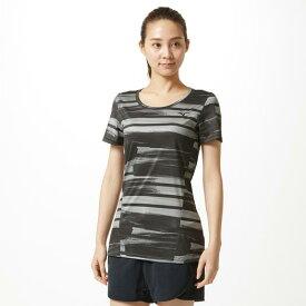 【在庫処分】ミズノ グラフィックTシャツ[レディース] ブラック Mizuno 32MA9314 09