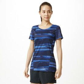 【在庫処分】ミズノ グラフィックTシャツ[レディース] リフレックスブルー Mizuno 32MA9314 25