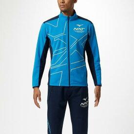 【在庫処分】【送料無料】ミズノ N-XTウォームアップジャケット ブリリアントブルー×ドレスネイビー Mizuno 32JC9210 24