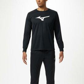 ミズノ Tシャツ(長袖) ブラック×ホワイト Mizuno 32MA9145 09