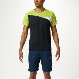 【在庫処分】ミズノ Tシャツ ライムグリーン×ブラック Mizuno 32MA9120 37