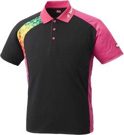 ニッタク(日卓) BUMERAN SHIRT(ブメランシャツ)ゲームシャツ 男女兼用 卓球用ウェア ピンク Nittaku NW2178 21