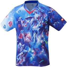 ニッタク(日卓) 男女兼用・ジュニア 卓球ゲームシャツ ユニスカイクリスタルシャツ Nittaku NW2182 09