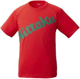 ニッタク(日卓) 卓球アパレル B−LOGO T−SHIRT(ビーロゴTシャツ) 男女兼用 レッド Nittaku NX2091 20