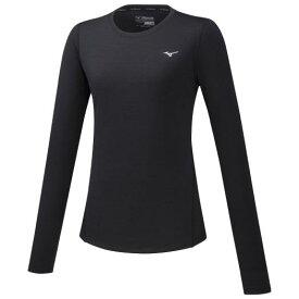 【在庫処分】ミズノ ランニングTシャツ(長袖)[レディース] ブラック Mizuno J2MA8706 90
