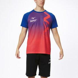 ミズノ N-XT Tシャツ サーフブルー×コーラル Mizuno 32JA0210 25