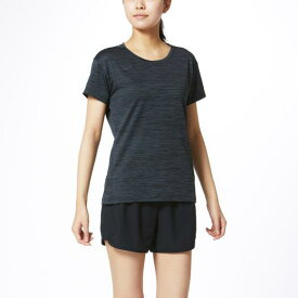 ミズノ Tシャツ[レディース] ブラック杢 Mizuno 32MA0311 09
